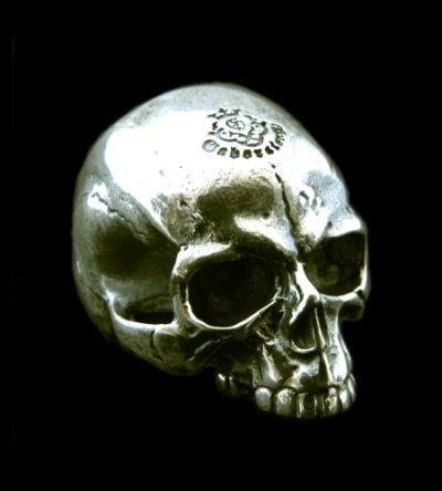画像1: Medium Large Skull Full Head Ring Without Jaw