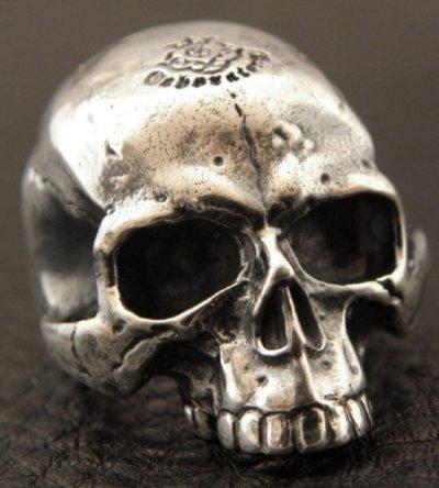 画像2: Medium Large Skull Full Head Ring Without Jaw