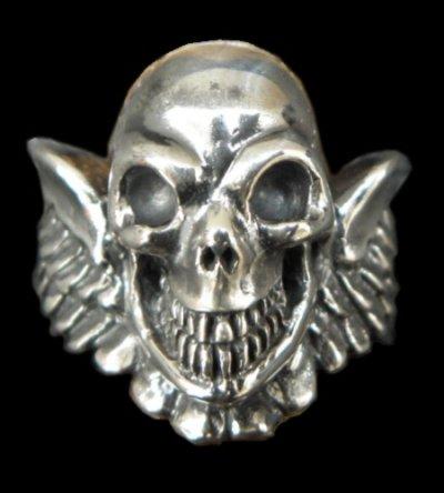 画像1: Wing Skull Ring