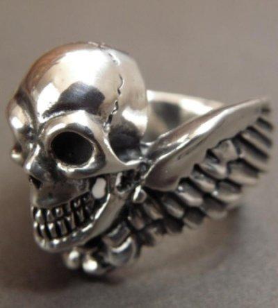 画像2: Wing Skull Ring