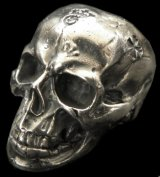 Large Skull Full Head Up Word Face Ring