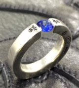 Floating Blue Sapphire Square O-Ring