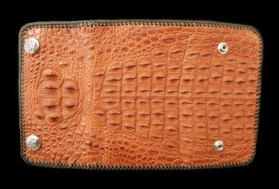 画像2: Frog G&Crown Liner Inlay Crocodile Head & Horn Back Long Wallet