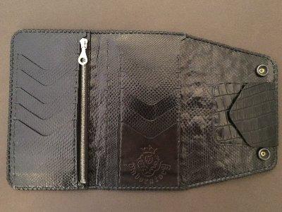 画像2: Crocodile Tail W-Spine(L) Long Wallet