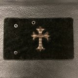 Python Traditional Cross Inlay Hippo Long Wallet