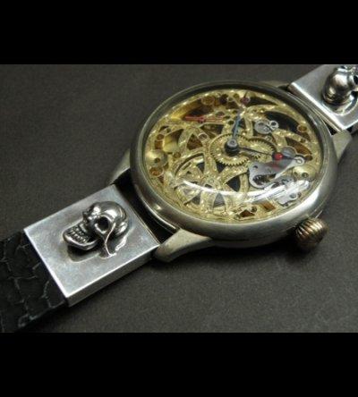 画像2: Skull With Snake & Shark Skin Watch Bands