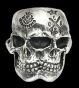 Xconz Collaboration Double Face Medium Lage Skull Ring