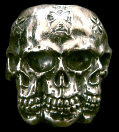 画像1: Xconz collaboration 4 Face Skull Ring