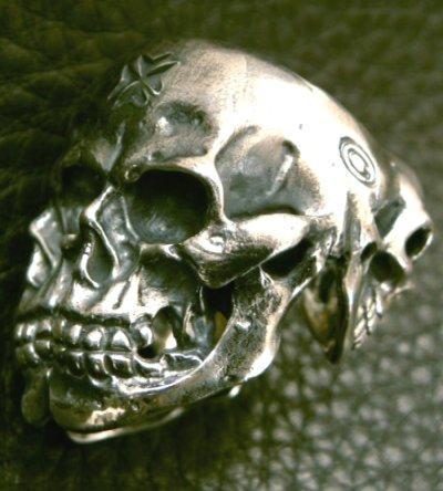 画像2: Xconz collaboration 4 Face Skull Ring