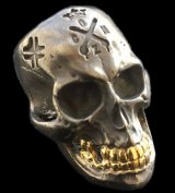 Xconz Collaboration 18k Gold Teeth Large Skull Ring 3rd generation