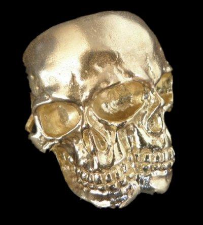 画像1: Xconz Collaboration Gold Double Face Medium Lage Skull Ring