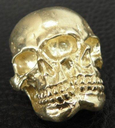 画像2: Xconz Collaboration Gold Double Face Medium Lage Skull Ring
