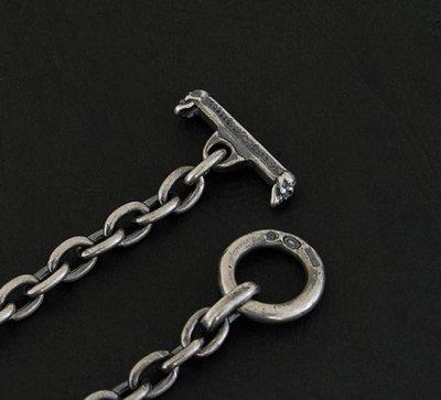 画像4: 7Chain & Half Skull T-bar Necklace