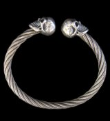 Half Skull Cable Wire Bangle