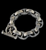 H.W.O & Chiseled Anchor Links Bracelet