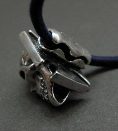 画像4: Skull On Iron Cross Hair Band