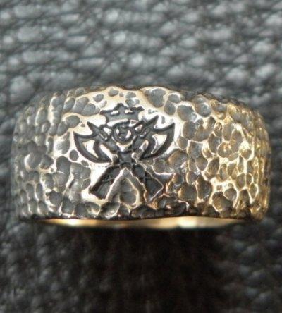 画像2: Multi Engraved Large Chiseled H.W.O Ring