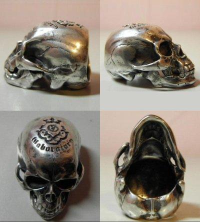 画像4: Large Skull Full Head Ring