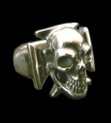 Skull Iron Cross Ring