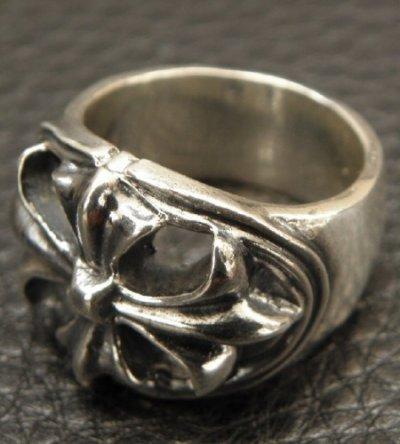 画像2: Medium Cross Oval Roll Ring