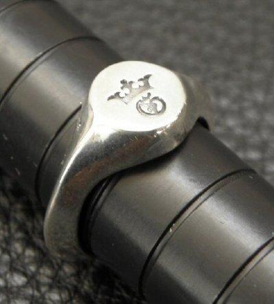 画像4: G&Crown Small Signet Triangle Wire Ring