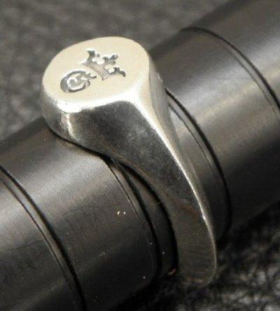 画像5: G&Crown Small Signet Triangle Wire Ring