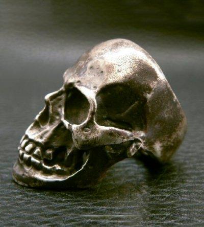 画像2: Large Skull With Jaw War Ring