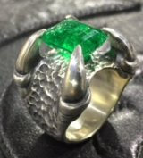 Green Emerald Master Predator Ring