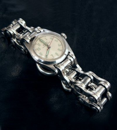 画像2: Bike Chain Heavy Wide Small Watch Bands
