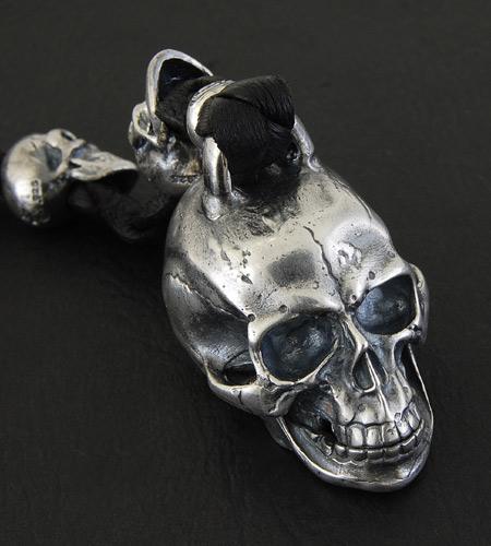 画像3: XL Skull With Lion Leather Wallet Hanger