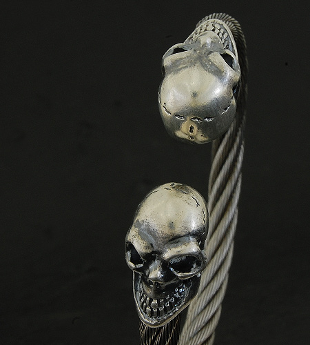 画像3: Skull Cable Wire Bangle