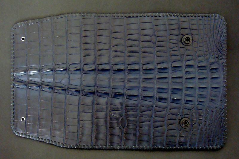 画像3: Crocodile Tail W-Spine Long Wallet