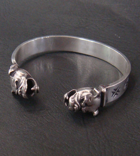 画像2: Half Bulldog Flat Bar Bangle