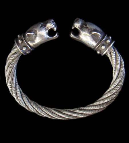 画像1: Panther Cable Wire Bangle