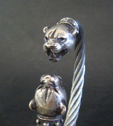 画像2: Panther Cable Wire Bangle