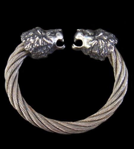 画像1: Lion Cable Wire Bangle