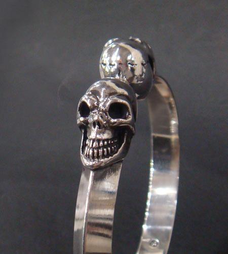 画像2: Skull Triangle Wire Bangle