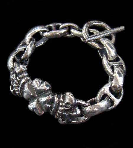 画像1: 4Heart ID with H.W.O&Anchor Links Bracelet