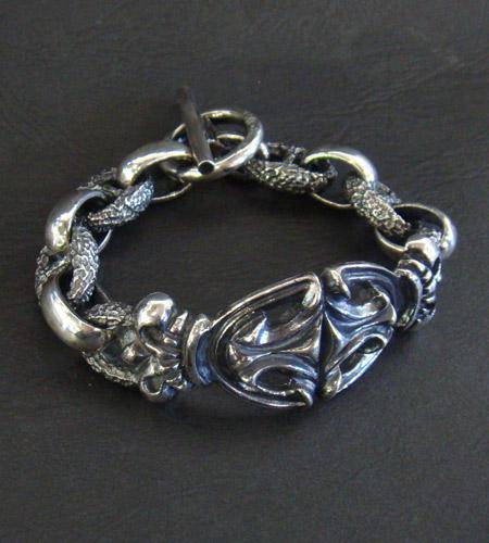 画像2: Crown Sculpted Oval With H.W.O & Chiseled Anchor Chain Bracelet