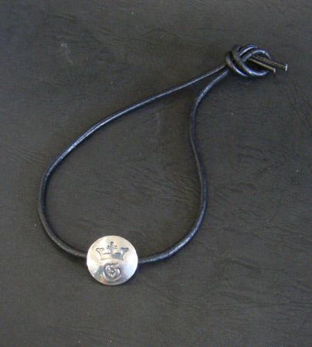 画像2: G&Crown Button Leather Hair Band