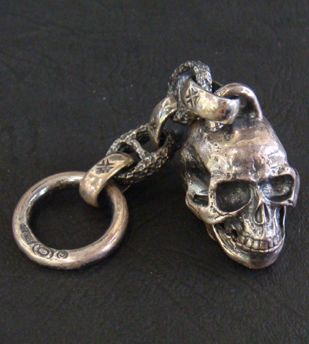 画像2: Half Large Skull Wallet Hanger