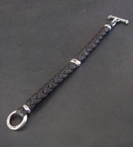 画像3: H.W.O braid leather bracelet