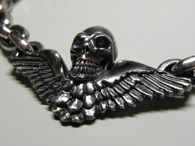 画像3: Wing Skull & Chain Links Necklace