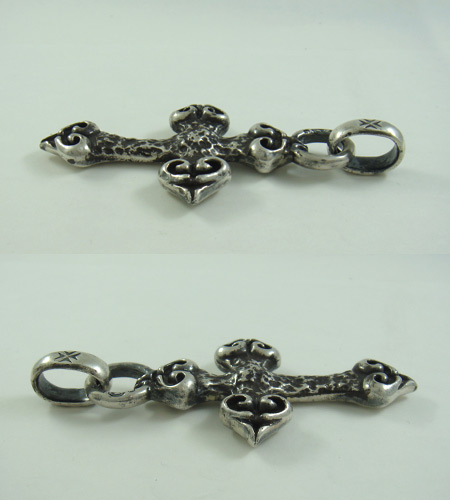 画像5: Quarter 4 Heart Chiseled Cross With H.W.O Pendant
