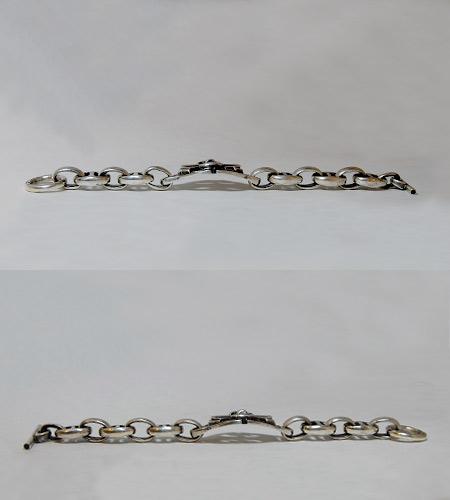 画像5: Battle-Ax ID With H.W.O & Anchor Links Bracelet