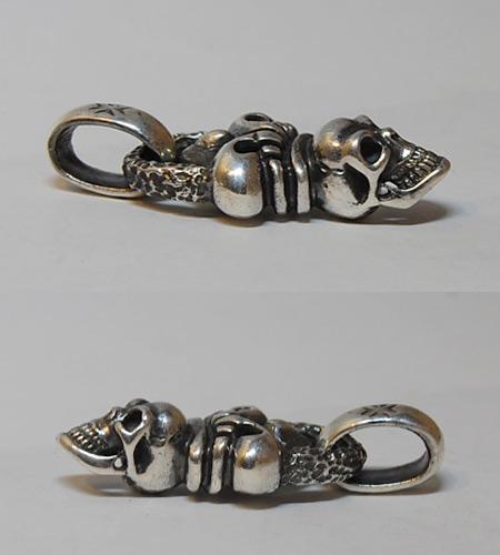 画像5: Skull Crown With Chiseled Loop & H.W.O Pendant
