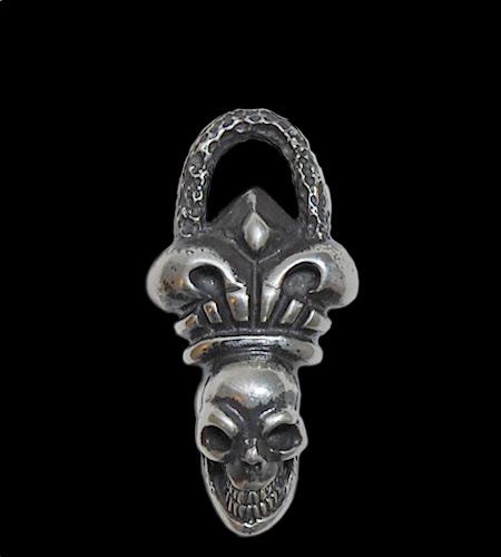 画像1: Skull Crown With Chiseled Loop Pendant