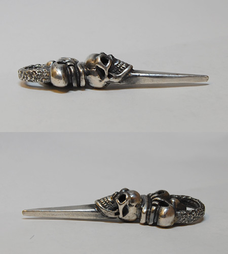 画像5: Skull Crown Dagger With Chiseled Loop Pendant