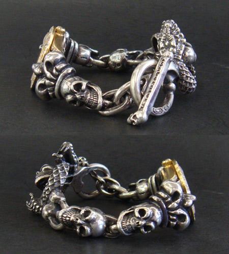 画像5: Skull Crown With Skull On Snake & Skull Watch Bands
