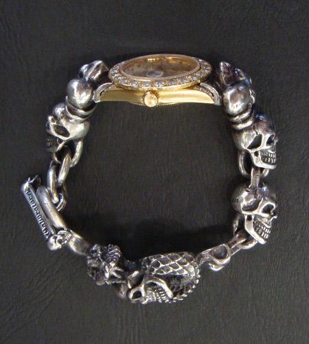 画像4: Skull Crown With Skull On Snake & Skull Watch Bands